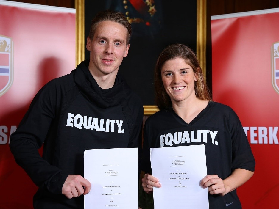 Norways male and female footballers sign historic equal pay agreement Getty image 1